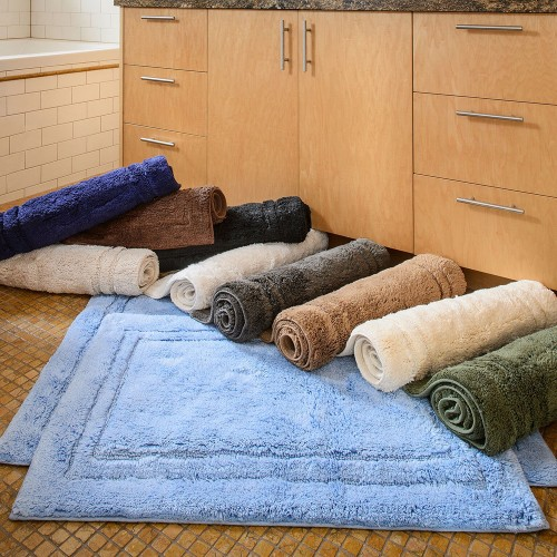 Luxurious Cotton Non-Skid 2pc Bath Rug Set