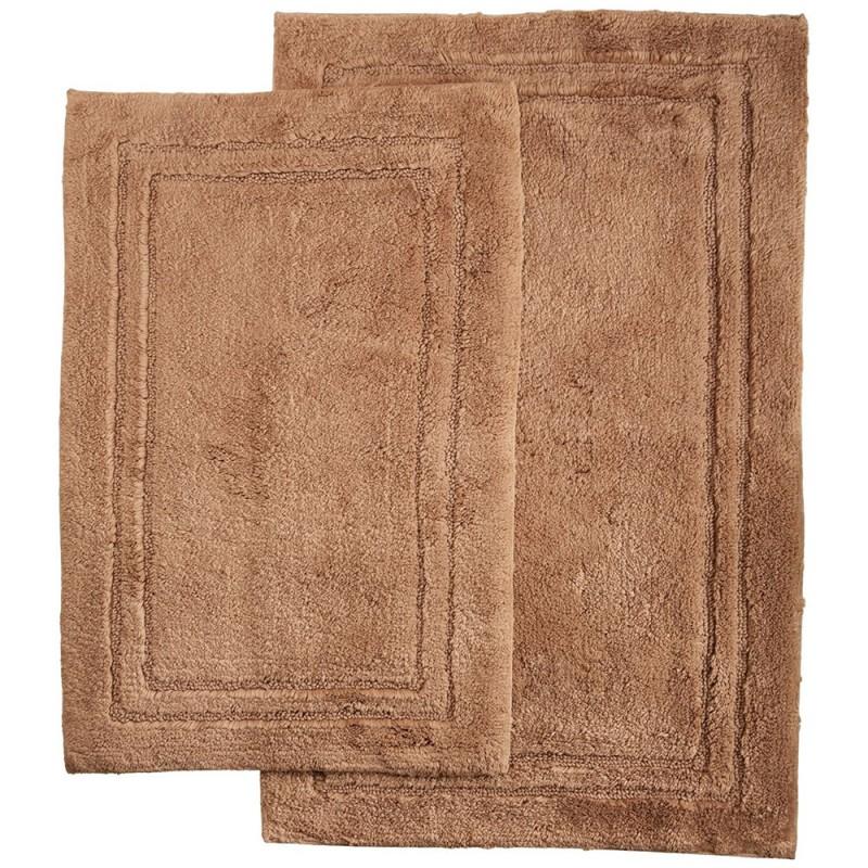 Luxurious Cotton Non Skid 2pc Bath Rug Set Egyptian Cotton Sheets