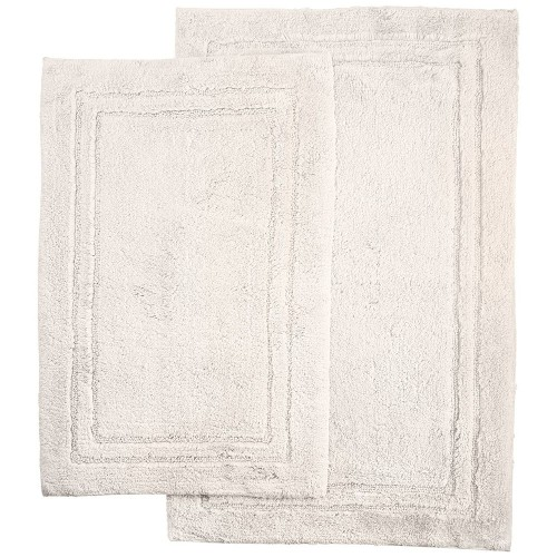 ... Luxurious Cotton Non Skid 2pc Bath Rug Set