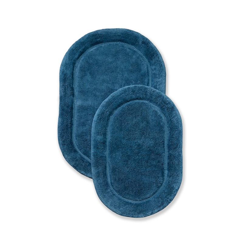 Luxurious Cotton Non-Skid 2pc Oval Bath Rug Set
