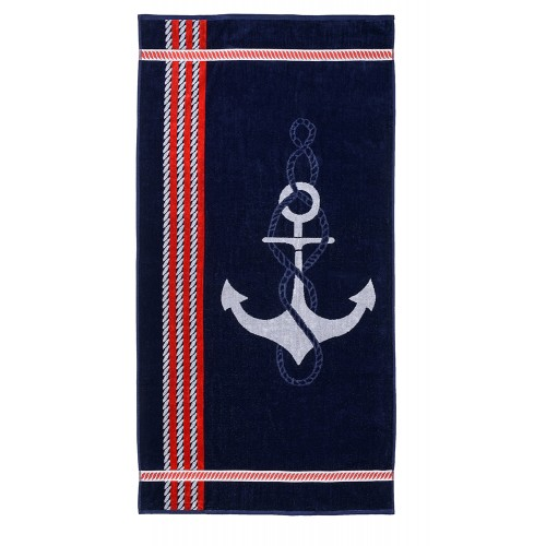 100% Cotton Anchor Oversized Beach Towel
