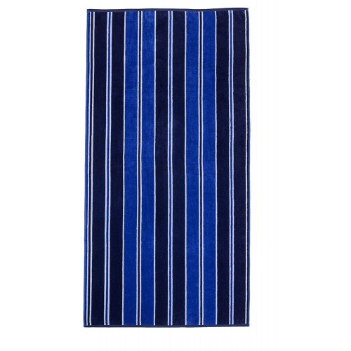 100% Cotton Aqua Stripes Oversized Beach Towel