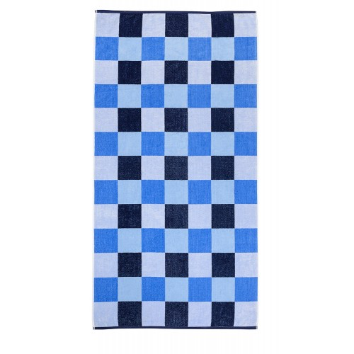 100% Cotton Checkers Oversized Beach Towel