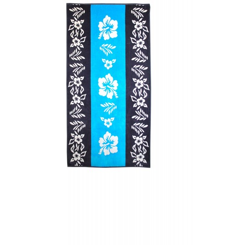 100% Cotton Hibiscus Flower Oversized Beach Towel