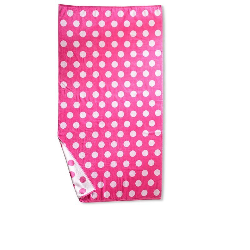 100% Cotton Polka Dots Oversized Beach Towel