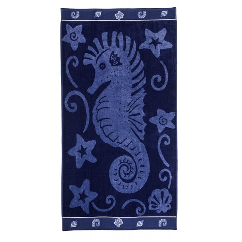 100% Cotton Sea Horse Oversized Beach Towel
