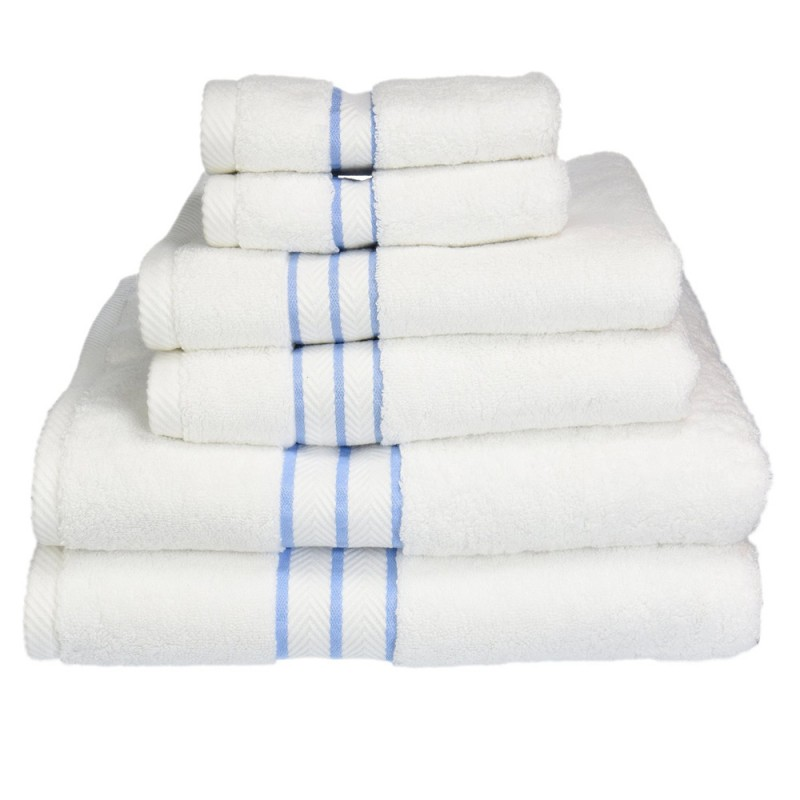 Hotel collection 900 gsm premium cotton 6 piece towel set for Hotel sheets and towels
