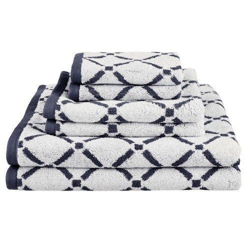 550GSM DIAMOND COTTON 6PC TOWEL SET (2 face+2 hand+2 bath)