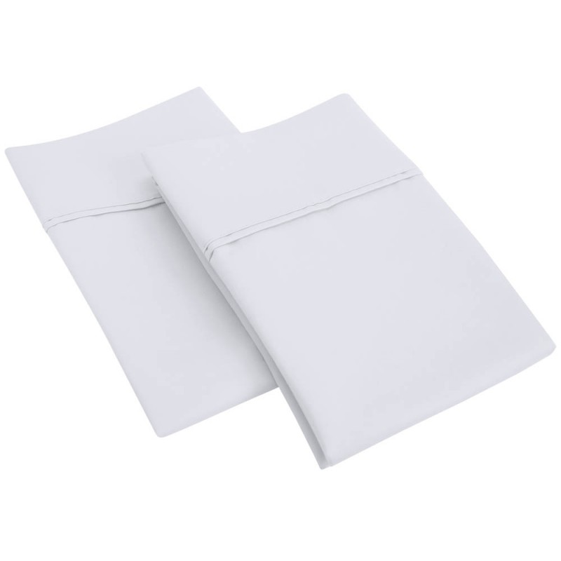 1200tc Cotton Rich Solid Pillowcase Set