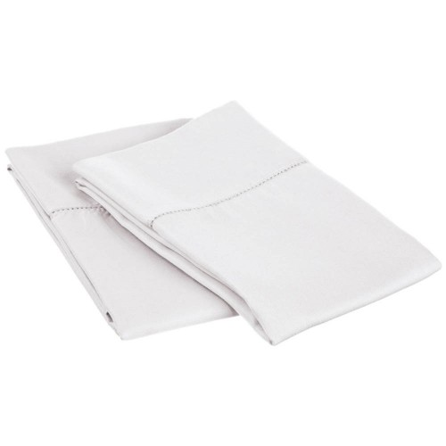 600tc Cotton Rich Hem Stitch Pillowcase Set