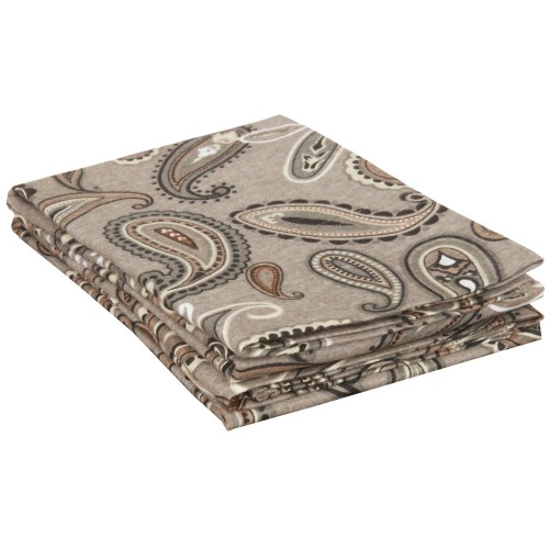 Flannel Cotton Paisley Pillowcase Set